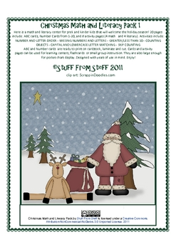 Christmas Math and Literacy Pack 1