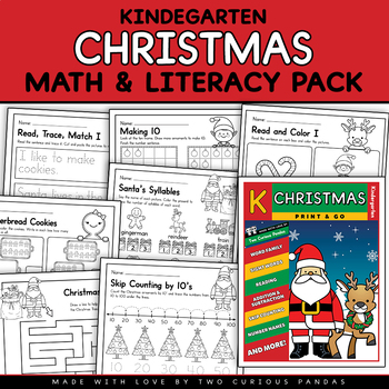 Christmas Math and Literacy Pack - NO PREP