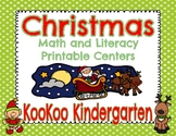 Christmas Math and Literacy Printable Packet for Kindergarten