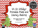 Christmas Math and Literacy Printable Stations