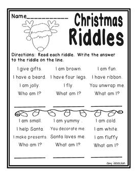 Christmas Math and Literacy Printables