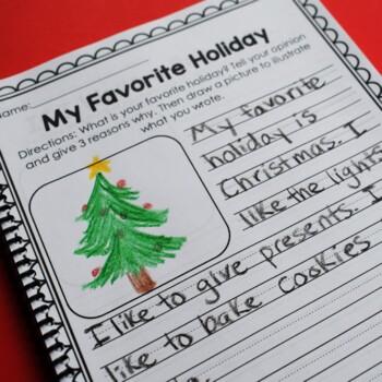 Christmas Math and Literacy Printables- No Prep (Common ...