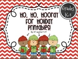 Christmas Math and Literacy Printables