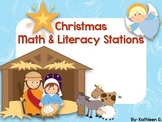 Christmas Math and Literacy Stations-Christian Themed