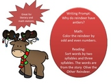 Christmas Math and Literacy Stations -odd and even numbers