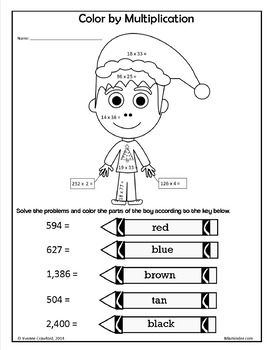 Christmas NO PREP Printables - Fifth Grade Common Core Math and Literacy