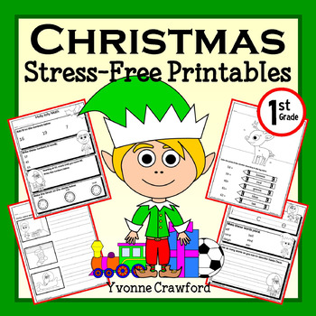 Christmas NO PREP Printables - First Grade Common Core Mat