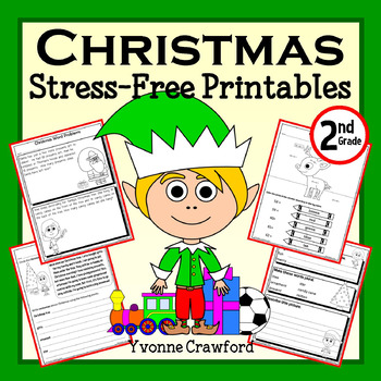 Christmas NO PREP Printables - Second Grade Common Core Math and Literacy