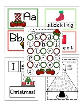 Christmas Math and Literacy Unit