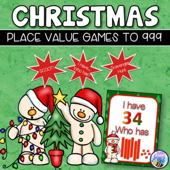 Christmas Math and Literacy Worksheets, Word Wall and Games Bundle