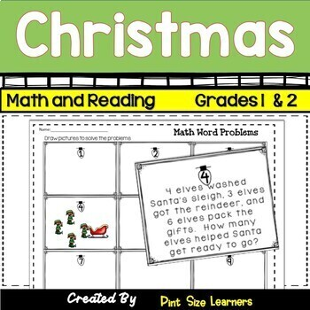 Christmas Math and Reading Activities Grades 2 and 3