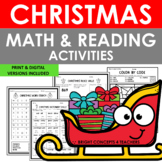 Christmas NO PREP Math and Reading Activities {Print & Digital}