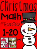 Christmas Math counting 1-20 FREEBIE