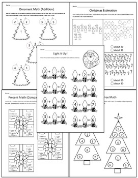 Christmas Math for 1st Grade (No Prep)