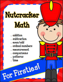 Christmas Math for 1st Grade with a Nutcracker theme (PRINT & GO)