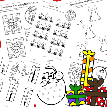 Christmas Math for Firsties! (NO PREP)
