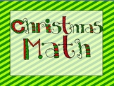 Christmas Math for Intermediate Grades