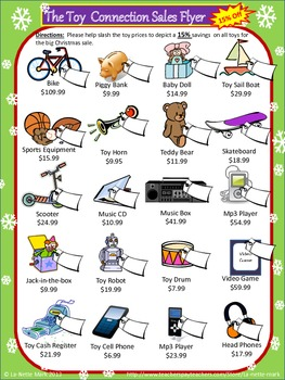 Christmas Math for Middle School