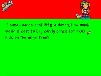 Christmas Math Word Problems for Promethean Board