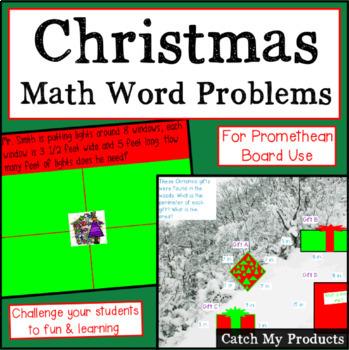 Christmas Math for Promethean Board