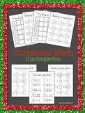 Christmas Math - sequencing, missing number, counting on,