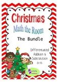 Christmas Math the Room Addition and Subtraction Bundle