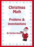 Christmas Math - word problems & investigations ;K12;puzzl