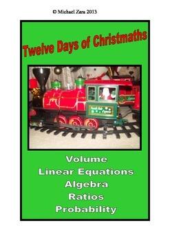 Christmas Math Activities 12 days of Christmas 9th and 10th grade