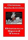 Christmas Math Activities: Distance, Speed and Time across America