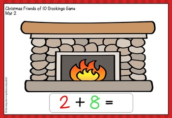 Christmas Maths Activities - Friends of Ten Counting Activity and Worksheet