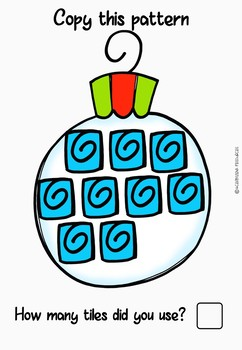 Christmas Maths- Decorate the Christmas Decorations