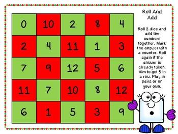 Christmas Maths Dice Games