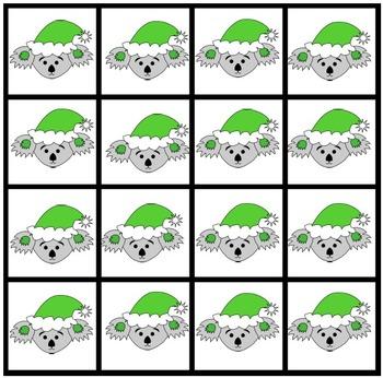 Adding Game - Christmas Maths Game Add the Koalas