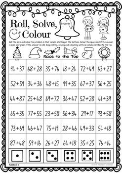 Christmas Maths Games – 'Race to the Top' - for Australian Teachers