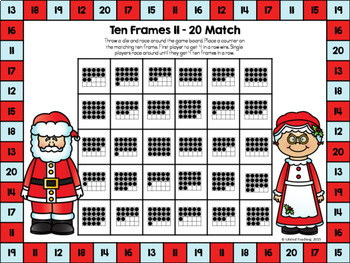 Christmas Maths  No Prep & Color Board Games