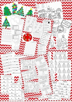 Christmas Maths Pack Prep/Kindergarten - differentiated & no-prep