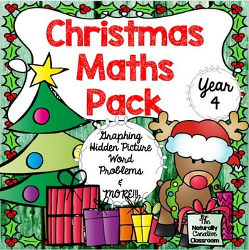 Christmas Maths Pack  for Year 4- UK English