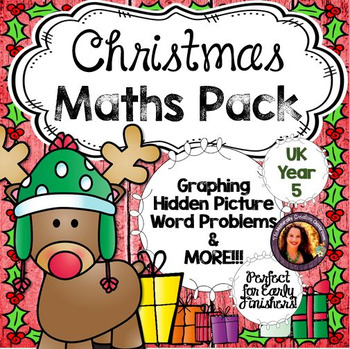 Christmas Maths Pack for Year 5- UK English