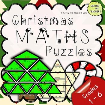 Christmas Maths Puzzles: Bundle (Grades 1 - 6)