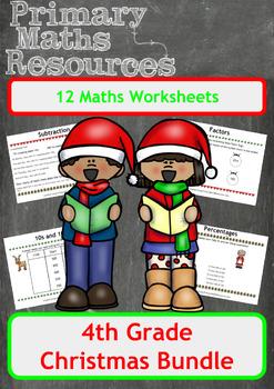 Christmas Maths Worksheets - 4th Grade