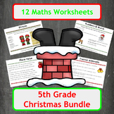 Christmas Maths Worksheets - 5th Grade