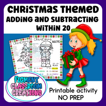 Christmas Maths with a focus on adding / subtracting within 20.