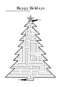 photo about Christmas Maze Printable known as Xmas Maze