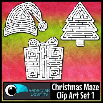 Christmas Maze Clip Art