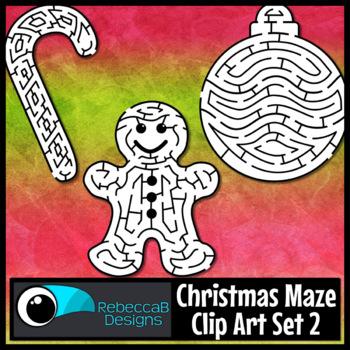 Christmas Maze Clip Art Set 2