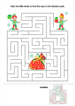 Christmas Maze Game #18802, Commercial Use Available