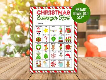 Christmas Maze Printable Game for Kids, Classroom Games and Activities.