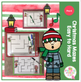 Christmas Mazes from Easy to Hard