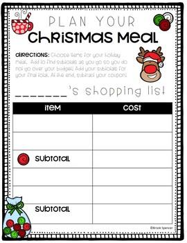 Christmas Meal Shopping