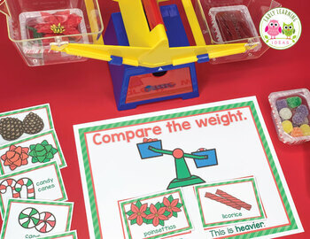 Christmas Measurement Activities for Preschool and Pre-K | Comparing Weights